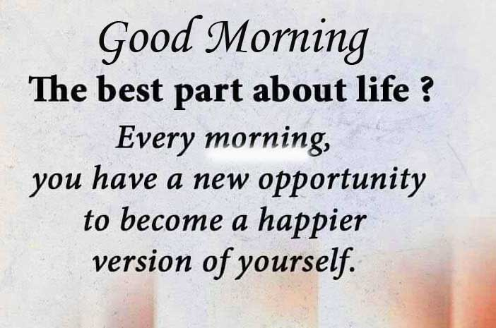 Beautiful Quote with Good Morning Wish