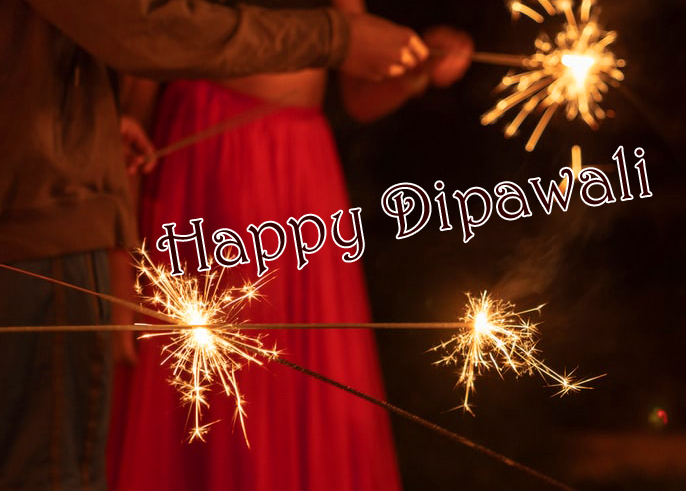 Happy Dipawali with Fireworks Image