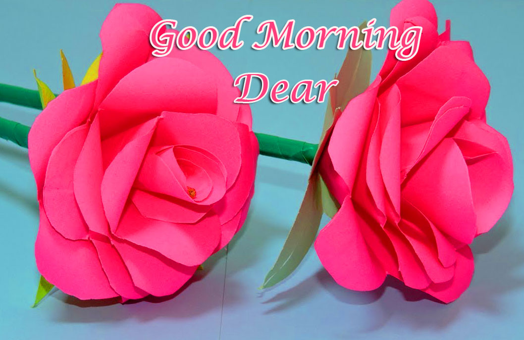 Paper Flowers with Good Morning Wishing