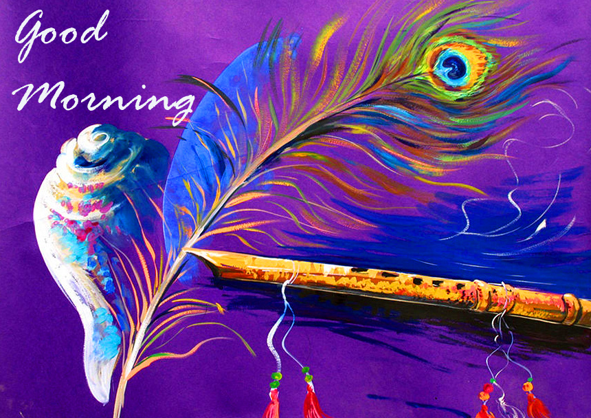 Basuri and Feather with Good Morning Wish