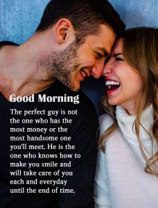 Couple with Love Quotes Good Morning Image
