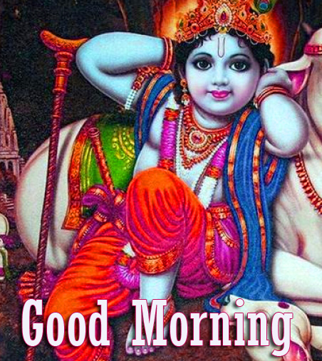 Cute and Best Krishna Good Morning Pic