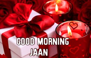 Good Morning Jaan with Roses and Gift