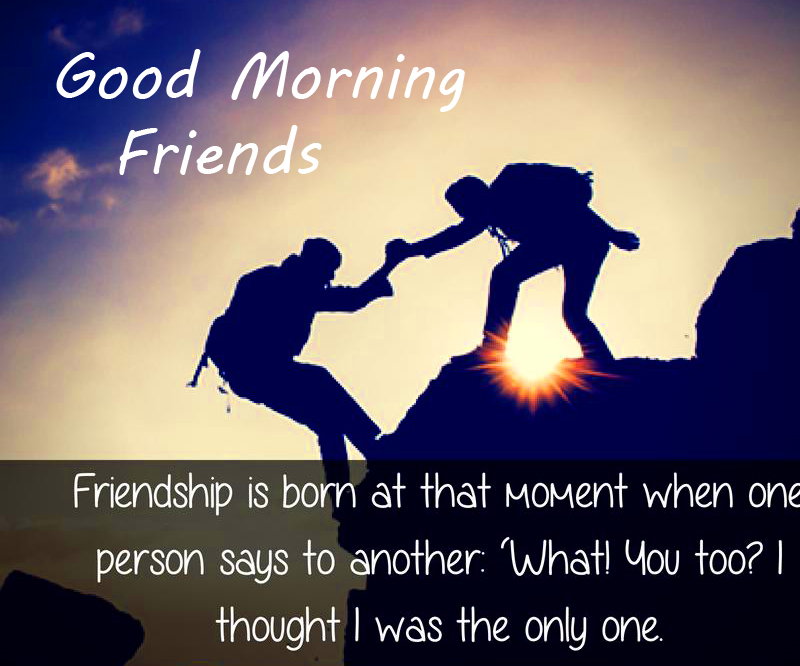 Lovely Friends Quote with Good Morning Friends Wish
