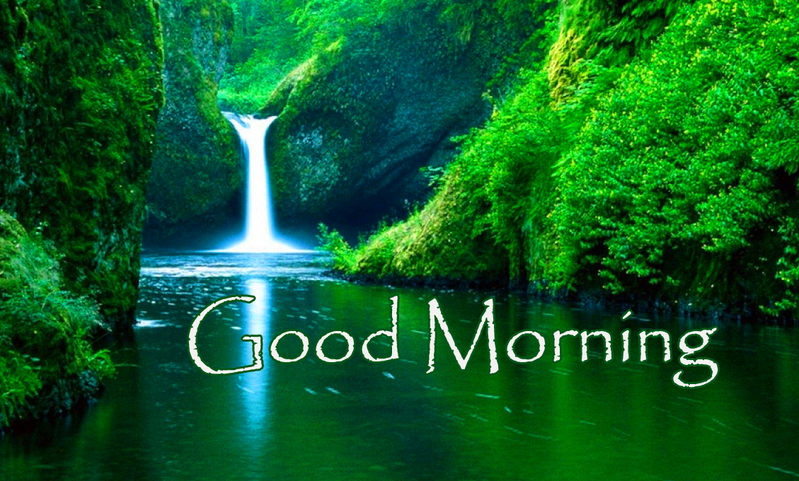 Nature Waterfall Good Morning Picture