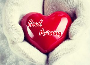 Red Heart Good Morning Wallpaper