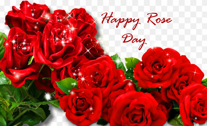 Red Roses Bunch with Happy Rose Day Wish