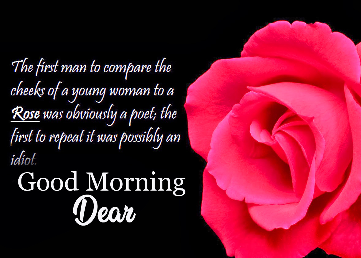 Rose Quotes Good Morning Dear Image