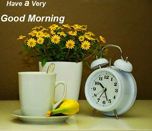 Alarm Clock with Have a Very Good Morning Message
