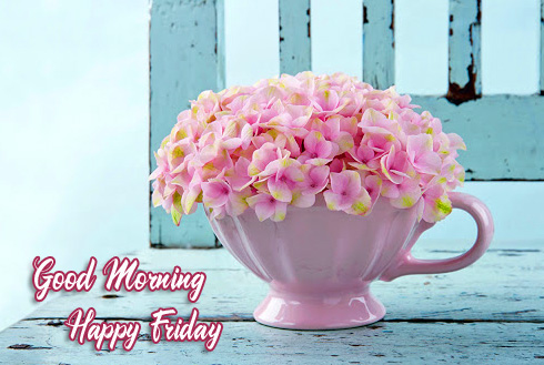 Best Flowers Cup Good Morning Happy Friday Picture