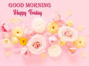 Blooming Flowers Good Morning Happy Friday Wallpaper