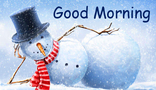Cheerful Winter Good Morning Snowman Picture