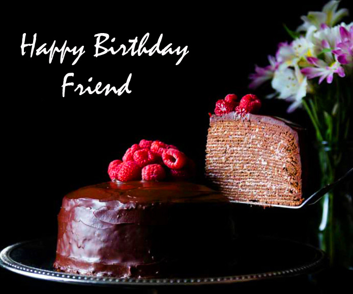 Crepe Happy Birthday Friend Message Picture