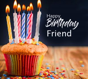 Cup Cake Happy Birthday Friend Image