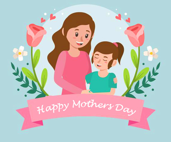 Cute Cartoon Happy Mothers Day Pic