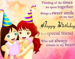 Cute Friend Happy Birthday Greeting Message Image