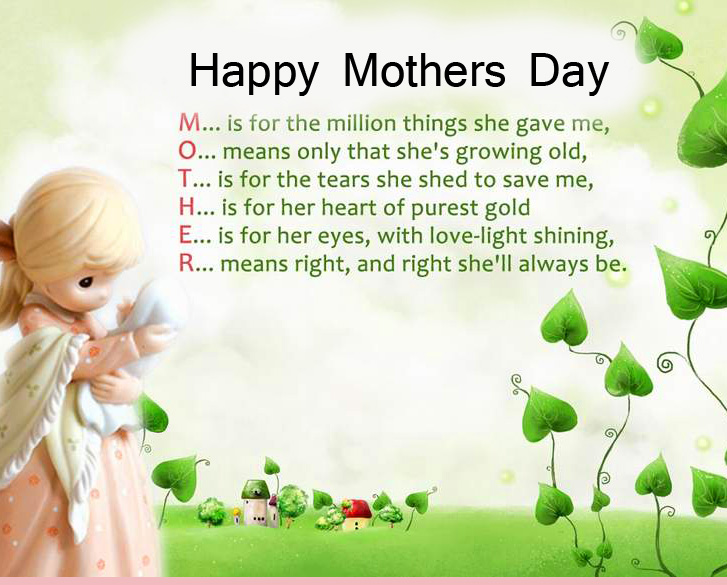 Cute Happy Mothers Day Message Message Image