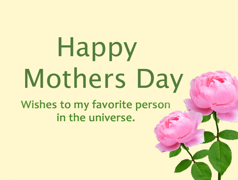 Flowers with Happy Mothers Day Wish and Message