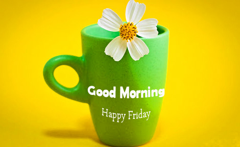 Good Morning Happy Friday Flower Cup Pic