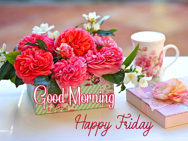 Good Morning Happy Friday Rose Flowers Picture