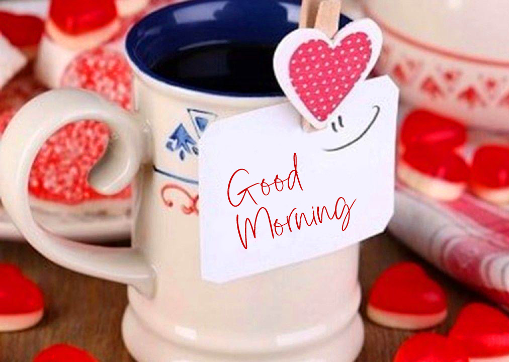 Good Morning Heart with Coffee