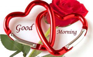 Good Morning Rose with Hearts