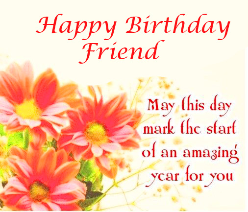 Happy Birthday Friend Message with Message