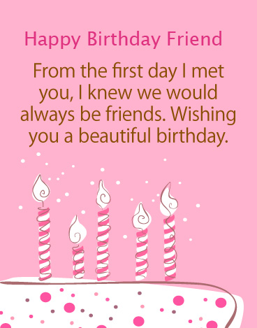 Happy Birthday Friend with Beautiful Message