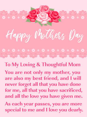 Happy Mothers Day with Beautiful Message