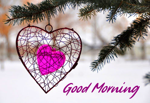 Heart in Winter Good Morning Picture