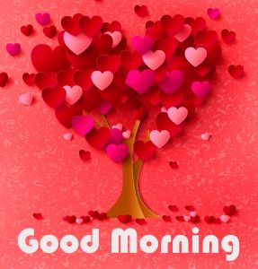 Hearts Tree Good Morning Image