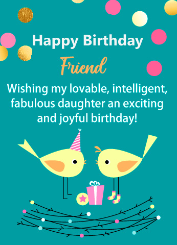 Lovable Happy Birthday Friend Wish Picture