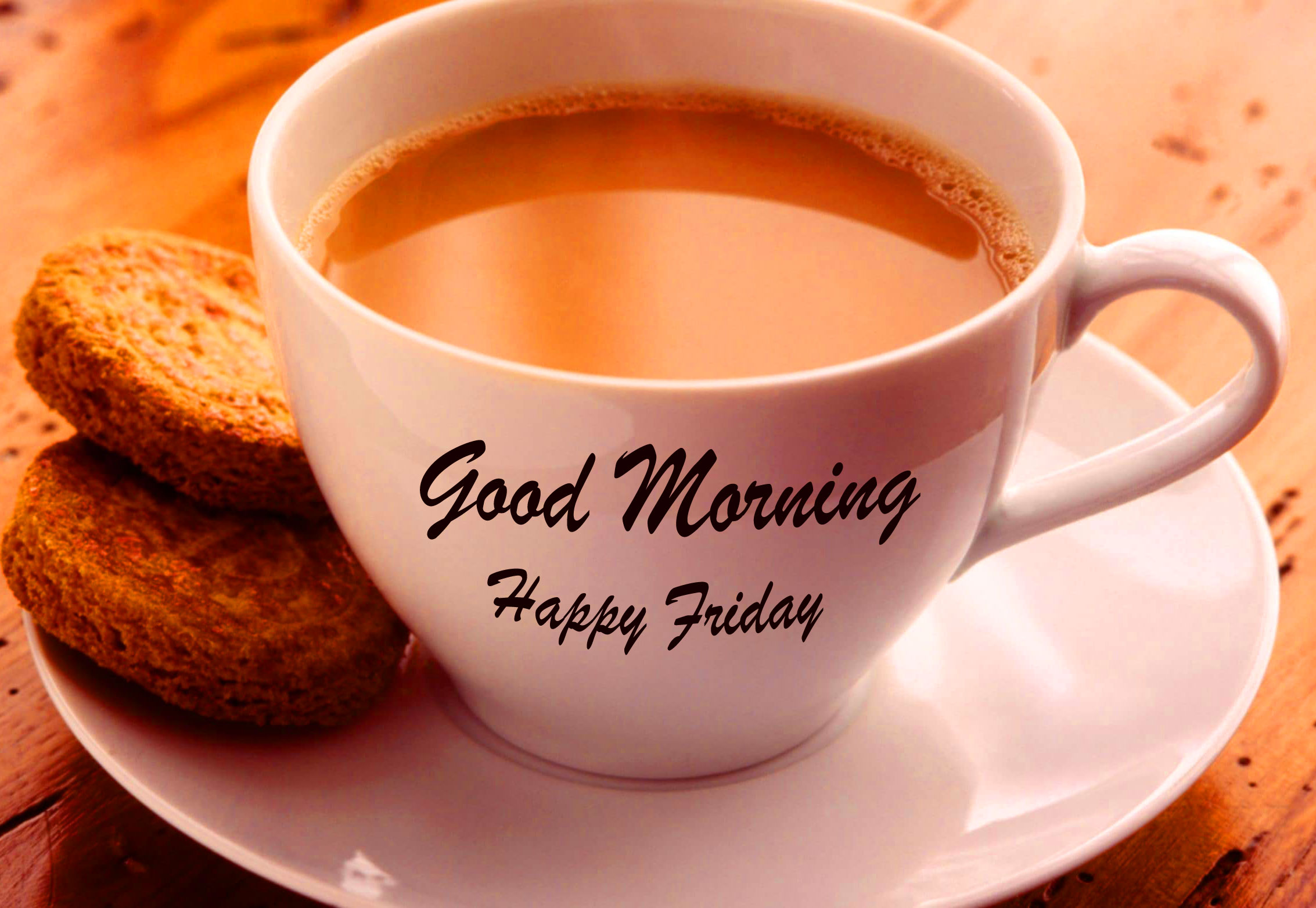 Tea with Snacks and Good Morning Happy Friday Wish