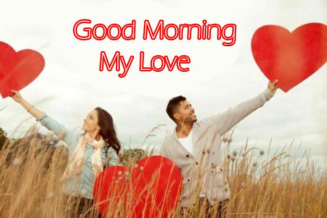 Hearts and Couple Good Morning My Love Image
