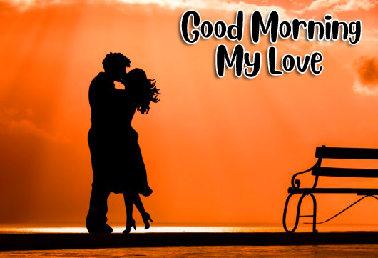 Kissing Couple Good Morning My Love Pic