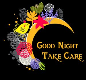 Lovely Animated Decorative Good Night Take Care Wallpaper