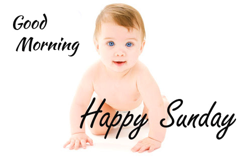 Lovely Baby Good Morning Happy Sunday Picture