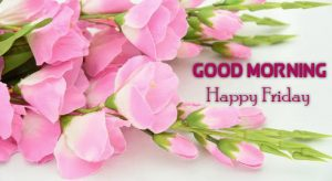 Pink Flowers Good Morning Happy Friday Wallpaper