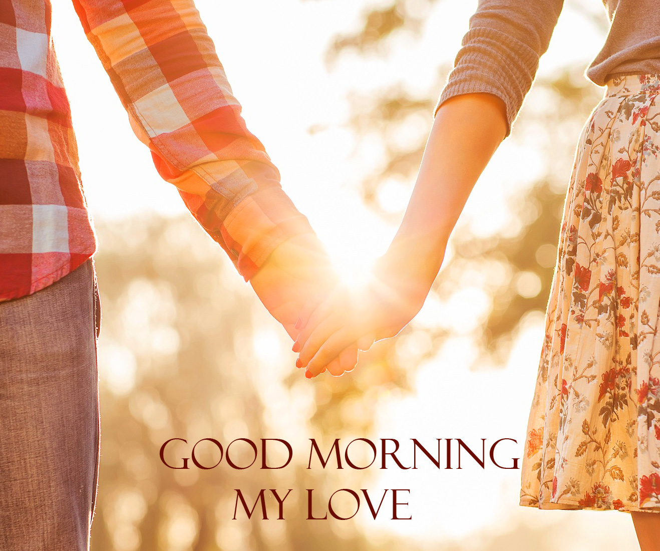 Young Couple Good Morning My Love Image