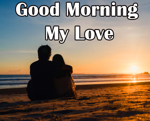 Young Sea Shore Couple Good Morning My Love HD Image