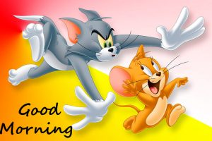 Cutest Cartoon Tom and Jerry Good Morning Image