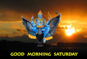 Good Morning Happy Saturday Shani Dev Picture