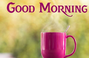 Good Morning Wish with Coffee Mug Image