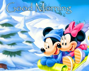 Mickey and Minnie Mouse Good Morning Pic