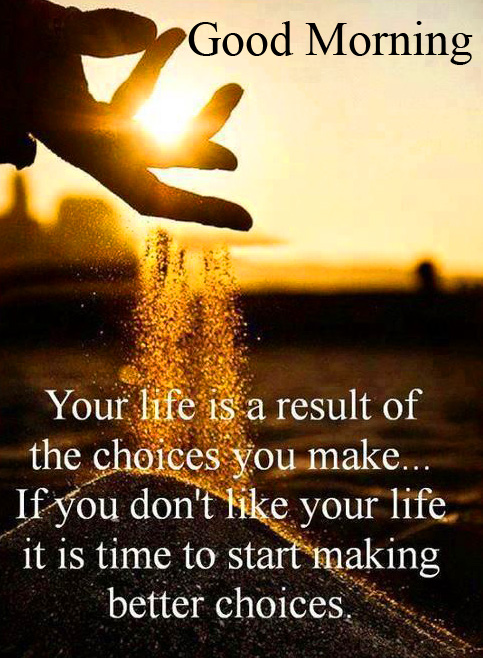 Motivational Life Good Morning Quote Image