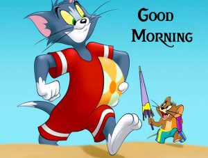 Tom and Jerry Cute Cartoons Good Morning Image