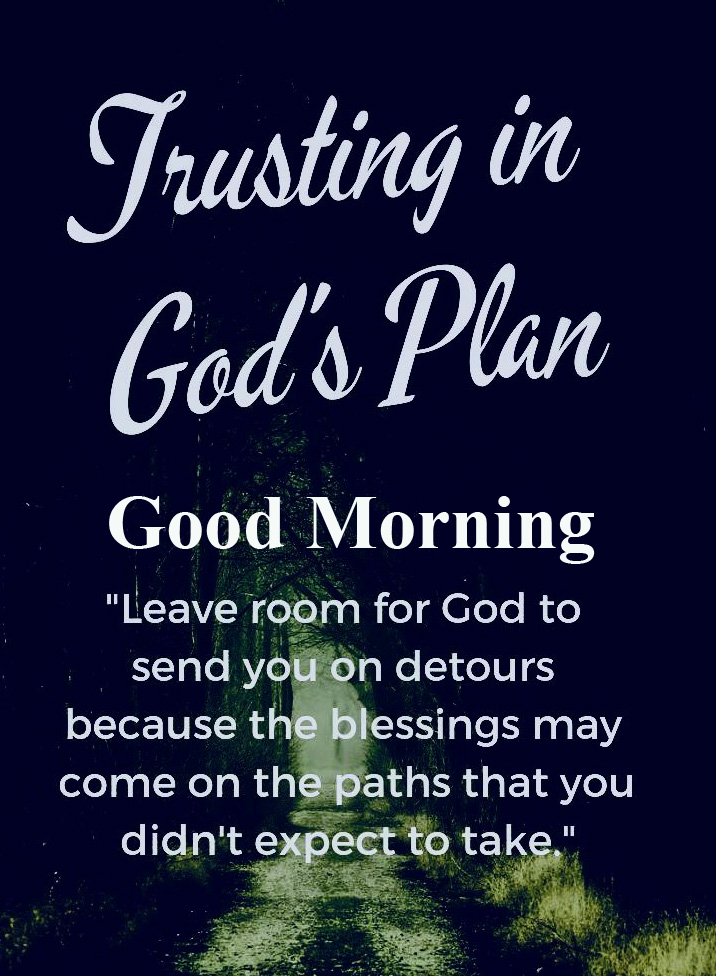 Trusting Best God Plan Good Morning Quote Image